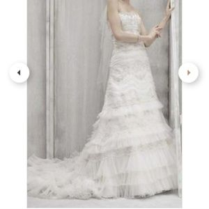 Unaltered vintage-inspired beaded wedding dress